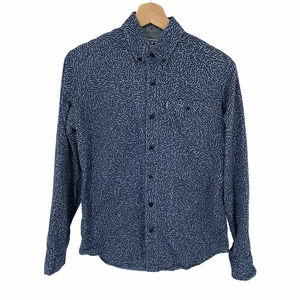 Staple Pigeon Blue Squiggly Line Button Down Shirt